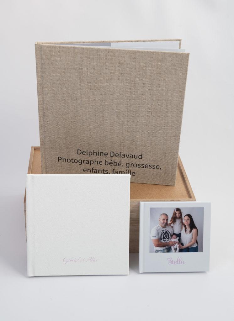Albums 30x30 21x21 et 15x15 Delphine Delavaud Photographie photographe grossesse naissance bébé enfant famille Houilles Yvelines la Défense